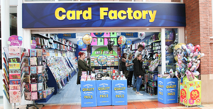 Card Factory Angel Place Shopping Centre